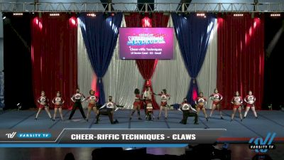 Cheer-riffic Techniques - Claws [2021 L3 Senior Coed - D2 - Small Day 2] 2021 The American Spectacular DI & DII
