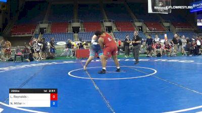 285 lbs Cons 8 #1 - Lloyd Reynolds, Illinois vs Nate Miller, Pennsylvania