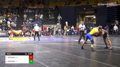 165 lbs Quarterfinal - Travis Wittlake, Oklahoma State vs Jake Wentzel, Pittsburgh