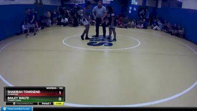 130 lbs Round 4 - Bailey Waltz, Timber Creek vs Shakirah Towesend, Gladiator