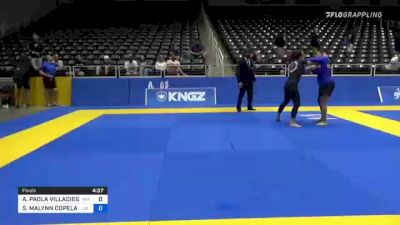 AMY PAOLA VILLADIEGO vs SARAH MALYNN COPELAND 2021 World IBJJF Jiu-Jitsu No-Gi Championship