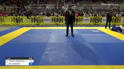 EVAN GRANT MIDDLETON vs JALAL KAI NAGHIB 2021 Pan Kids Jiu-Jitsu IBJJF Championship