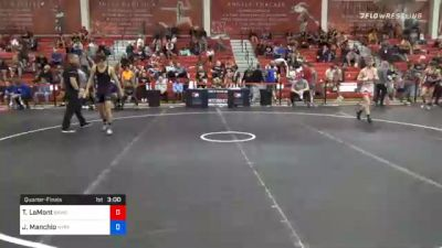 57 kg Quarterfinal - Taylor LaMont, Sunkist Kids Wrestling Club vs Joseph Manchio, New York City RTC