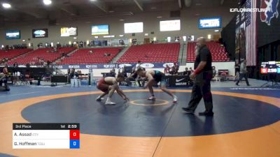 86 kg 3rd Place - Abe Assad, Izzy Style vs Gavin Hoffman, Ohio State-Unattached
