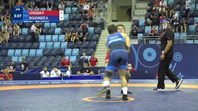 80 kg 1/4 Final - Patrik Iulian Gordan, Romania vs Achiko Bolkvadze, Georgia
