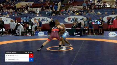 67 kg Quarterfinal - Michael Hooker, Army WCAP vs Jamel Johnson, Marines