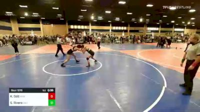 109 lbs 2nd Place - Kylee Golz, Reign WC vs Samantha Rivera, California Grapplers