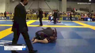 QUENTIN P KIMBLE vs ROBERT WAYNE CARTER 2021 American National IBJJF Jiu-Jitsu Championship
