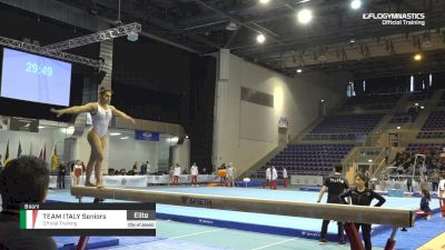 Team Italy Seniors - Beam, Official Training - 2019 City of Jesolo Trophy