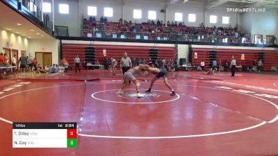 141 lbs Consolation - Tyler Dilley, Lock Haven vs Nick Coy, Virginia