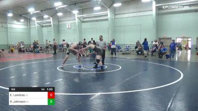 189 lbs 3rd Place - Elijah Lawless, SU vs Patrick Johnson, NA