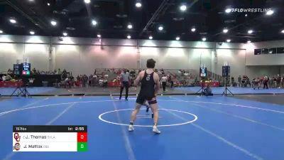 157 lbs Prelims - Justin Thomas, Oklahoma vs Jaden Mattox, Ohio State