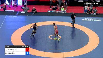92 kg 5th Place - Jacob Cardenas, Cordoba Trained vs Dakota Howard, SERTC-VT