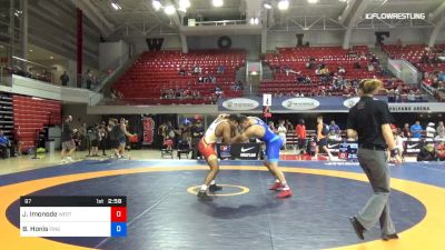 97 lbs Consolation - Jeremiah Imonode, West Point Wrestling Club vs Ben Honis, Finger Lake WC
