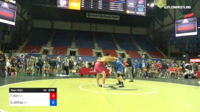 285 lbs Cons 8 #1 - Tyler Kim, Minnesota vs Harrison Diffley, Missouri