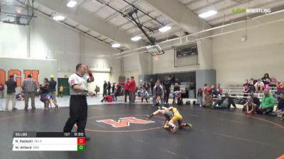 55 lbs 3rd place - Natalie Radecki, Delaware vs Mason Willard, B&O Outlaws