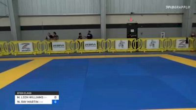 MATTHEW LEON WILLIAMS vs WENDELL RAY MARTIN 2021 Pan IBJJF Jiu-Jitsu No-Gi Championship