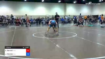 57 kg Consolation - Eric Barnett, Wisconsin RTC vs Jesse Mendez, Bulldog Premier Wrestling Club