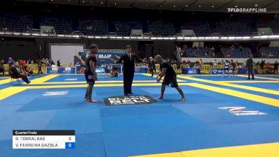 ROBERTO TORRALBAS vs VINICIUS FERREIRA GAZOLA 2019 World IBJJF Jiu-Jitsu No-Gi Championship