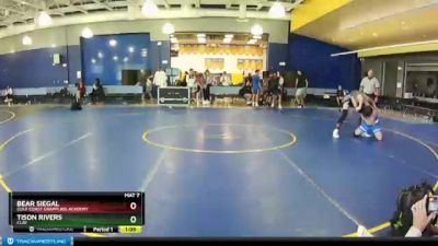 145 lbs Round 5 - Bear Siegal, Gulf Coast Grappling Academy vs Tison Rivers, CLAY