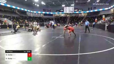 164 lbs 7th Place - Bo Geibe, Michigan vs Romona Blake, Appleton North High School Wrestling