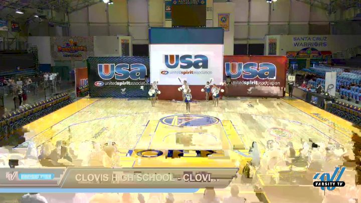 Clovis High School - Clovis High School [2021 Varsity - Song/Pom - Intermediate Day 1] 2021 USA Reach the Beach Spirit Competition