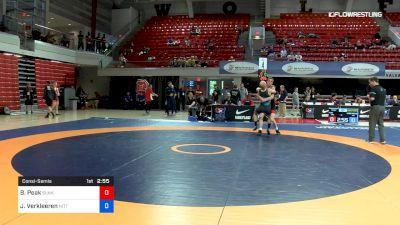 67 lbs Consolation - Benjamin Peak, Sunkist Kids Wrestling Club vs Jarod Verkleeren, Nittany Lion Wrestling Club