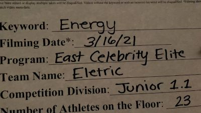 East Celebrity Elite - Electric [L1.1 Junior - PREP - Medium] 2021 Beast of The East Virtual Championship