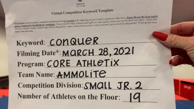 Core Athletix - Ammolite [L2 Junior - Small - B] 2021 Varsity All Star Winter Virtual Competition Series: Event V