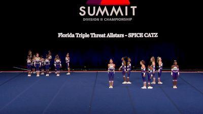 Florida Triple Threat Allstars - SPICE CATZ [2021 L1 Junior - Small Semis] 2021 The D2 Summit