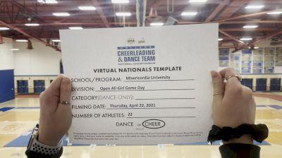 Misericordia University [Virtual Open All Girl Game Day Finals] 2021 UCA & UDA College Cheerleading & Dance Team National Championship