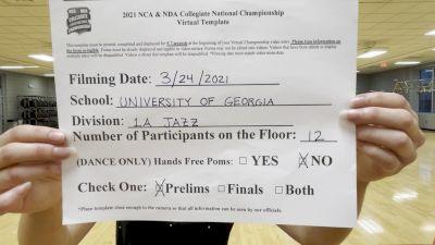 Georgia Red Hotz [Jazz Division IA Virtual Prelims] 2021 NCA & NDA Collegiate Cheer & Dance Championship