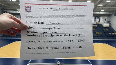 Georgia Tech [Virtual Hip Hop Division I Prelims] 2021 NCA & NDA Collegiate Cheer & Dance Championship