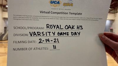 Royal Oak High School [Varsity - Game Day] 2021 UDA Spirit of the Midwest Virtual Challenge