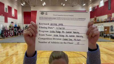 Vista Ridge High School [Game Day JV/Freshman] 2020 NCA November Virtual Championship