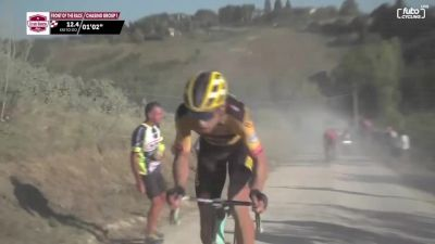 Wout Van Aert Attacks The Break At 2020 Strade Bianche