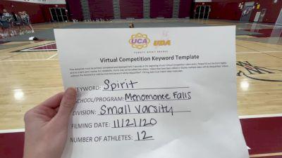 Menomonee Falls High School [Small Varsity] 2020 UCA Milwaukee Virtual Regional