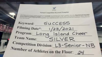 Long Island Cheer - Silver [L3 Senior Non Building] 2021 Athletic Championships: Virtual DI & DII