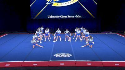 University Cheer Force - Mist [2021 L1 Junior - Medium Day 2] 2021 UCA International All Star Championship