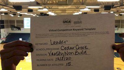 Cedar Creek High School [Game Day - Varsity Non Building] 2020 UCA Southwest Virtual Regional