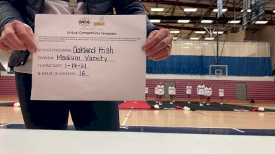 Oakland High School [Medium Varsity] 2021 UCA January Virtual Challenge
