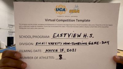 Eastview High School [Game Day Small Varsity - Non-Tumble] 2021 UCA & UDA March Virtual Challenge