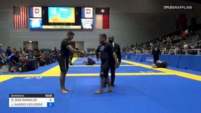 DIEGO DIAS RAMALHO vs JORGE ANDRES ESCUDERO BARBA 2021 World IBJJF Jiu-Jitsu No-Gi Championship