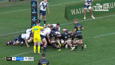 Chase Tiatia with a Try vs Rebels