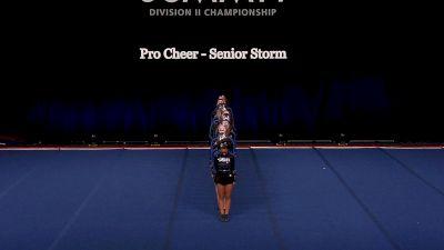 Pro Cheer - Senior Storm [2021 L4.2 Senior Coed - Small Wild Card] 2021 The D2 Summit