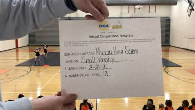 Milton High School [Small Varsity] 2021 UCA February Virtual Challenge