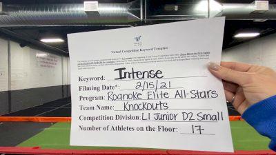 Roanoke Elite All Stars - Knockouts [L1 Junior - D2 - Small] 2021 Coastal at the Capitol Virtual National Championship