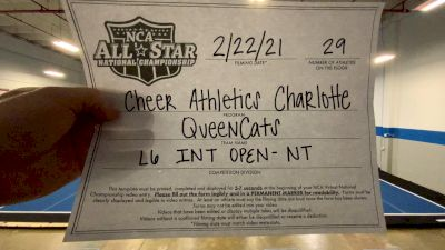 Cheer Athletics - QueenCats [L6 International Open - NT] 2021 NCA All-Star Virtual National Championship