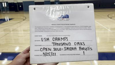 Thousand Oaks High School [Open - Solo] 2021 USA Virtual West Coast Dance Championships