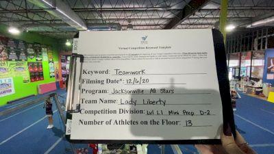 Jacksonville All Stars - Lady Liberty [Level 1.1 L1.1 Mini - Prep - D2] Varsity All Star Virtual Competition Series: Event VII